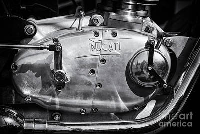 Ducati Desmo Engine Casing  Poster by Tim Gainey