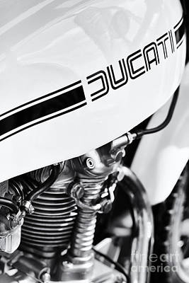 Ducati Desmo Motorcycle Poster by Tim Gainey