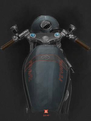 Ducati Poster by Jeremy Lacy