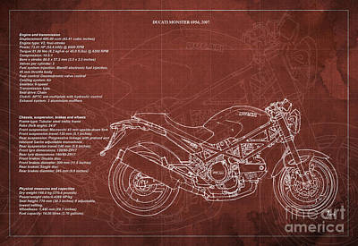 Ducati Monster 695d 2007 Technical Specifications  Poster