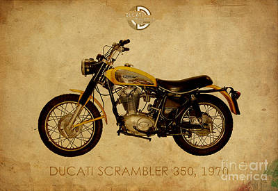 Ducati Scrambler 350 1970 Poster by Pablo Franchi