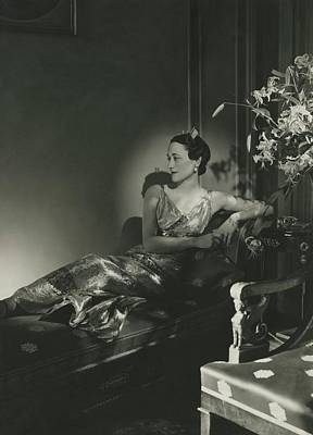 Duchess Of Windsor Reclining Poster by Horst P. Horst
