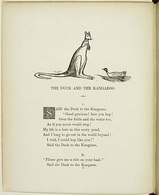 Duck And Kangaroo Poster by British Library