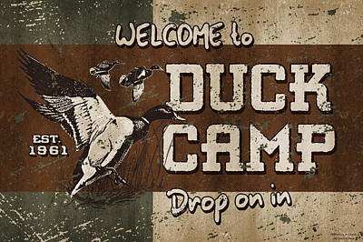 Duck Camp Poster by JQ Licensing