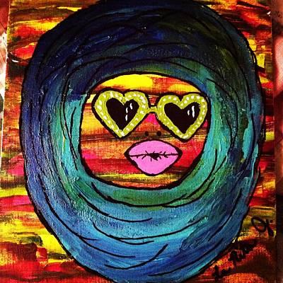 Duck Lips Poster by LaRita Dixon