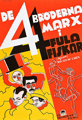 Duck Soup, Left From Top Harpo Marx Poster