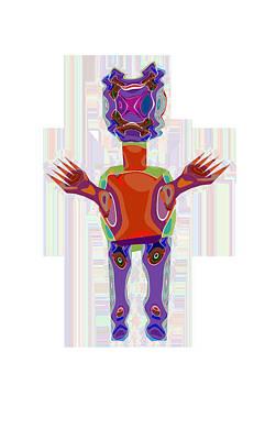 Duckelle Cartoon Character  Alien Monster Art Graphic Design Digital Complex Funny Comic Collage Col Poster