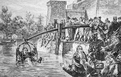 Ducking Punishment, Historical Artwork Poster by Bildagentur-online