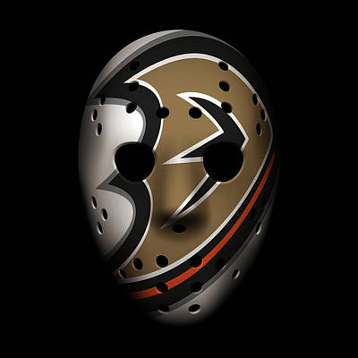 Ducks Goalie Mask Poster