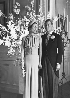 Duke And Duchess Of Windsor Poster by Underwood Archives