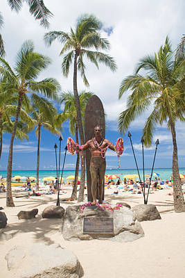 Duke Kahanamoku Statue Poster by M Swiet Productions