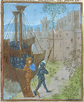 Duke Of Bourbon Disembarking Poster by British Library