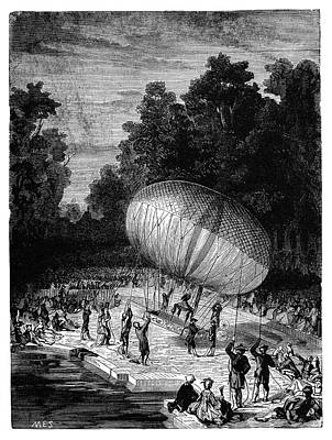 Duke Of Chartres Balloon Flight Poster by Science Photo Library