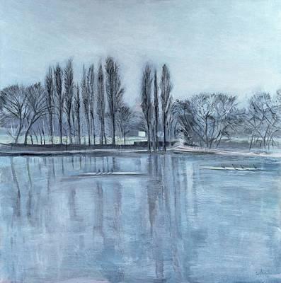 Dukes Meadows, Towards Putney-on-thames Acrylic On Canvas Poster
