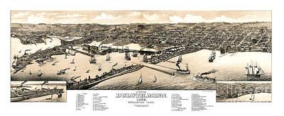 Duluth - Minnesota - 1883 Poster by Pablo Romero