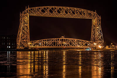 Duluth Aerial Lift Bridge Poster by Paul Freidlund