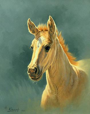 Dun Colt Portrait Poster by Paul Krapf