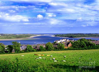 Dundrum Bay Irish Coastal Scene Poster by Nina Ficur Feenan