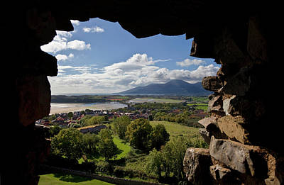 Dundrum Village And Distant Mourne Poster by Panoramic Images