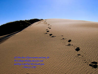 Dune Walk W/scripture Poster