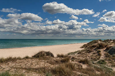 Dunes And Beach Poster by Juan Carlos Ferro Duque