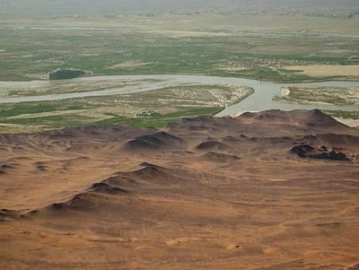 Dunes Around Helmand River Valley Poster