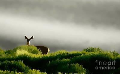 Dunes Deer P Poster