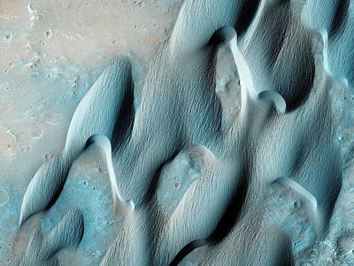 Dunes In Herschel Crater Of Mars Poster by Celestial Images