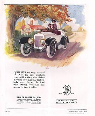 Dunlop 1919 1910s Uk Cars Tyres Poster