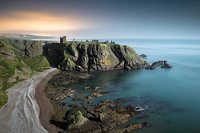 Dunnottar By Moonlight Poster by Dave Bowman