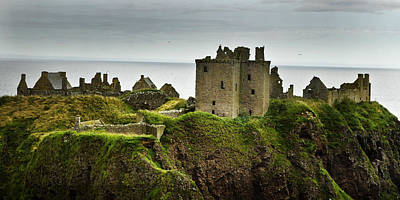 Poster featuring the photograph Dunnottar Castle Scotland by Sally Ross