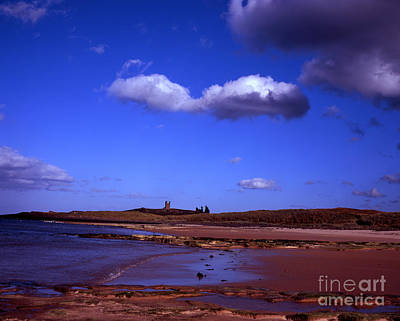 Dunstanburgh Castle From Beach At Embleton Bay Embleton Northumberland England Poster by Michael Walters