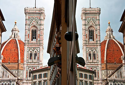 Duomo And Reflection Poster by Dennis Cox WorldViews