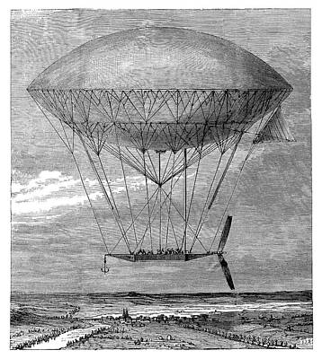 'dupuy De Lome' Airship Poster by Science Photo Library