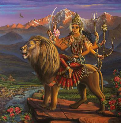 Durga Ma Poster by Vrindavan Das