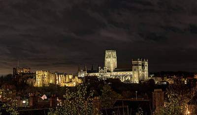 Durham Cathedral And Castle Illuminated Poster