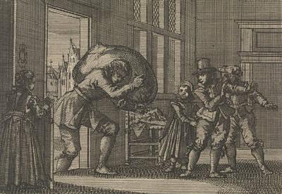 During The Siege Of La Rochelle The Widow Of Prosui Poster by Jan Luyken And Pieter Van Der Aa (i)