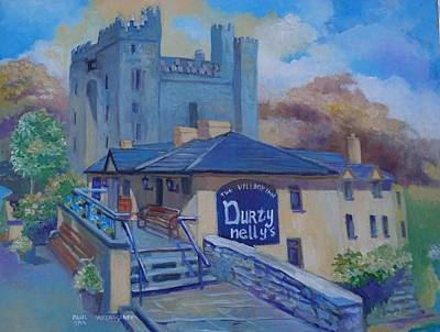 Durty Nellys And  Bunratty Castle Co Clare Ireland Poster