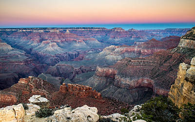 Dusk In Grand Canyon National Park Poster by Pierre Leclerc Photography