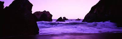 Dusk On The Santa Cruz Coastline Poster by Panoramic Images