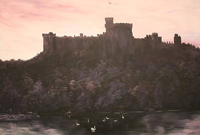 Poster featuring the painting Dusk Over Windsor Castle by Jean Walker