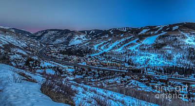 Dusk Setting In The Vail Valley Poster