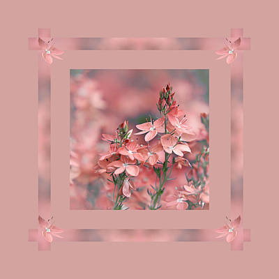 Dusky Pink Ribbons Poster