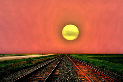 Dustbowl Sunset Poster by Larry Trupp