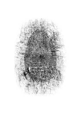 Dusted Fingerprint Poster