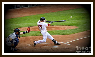 Dustin Pedroia 2 Poster by Michael Jones