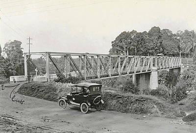Dutch East Indies, Indonesia, Bridge Over Batang Toro Car Poster by Artokoloro