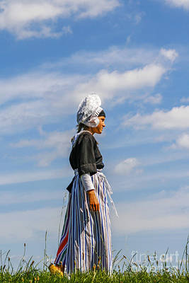 Dutch Girl In Traditional Clothing Poster by Patricia Hofmeester
