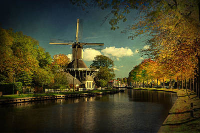 Poster featuring the photograph Dutch Windmill by Annie Snel