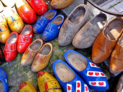 Poster featuring the photograph Dutch Wooden Shoes by Gerry Bates